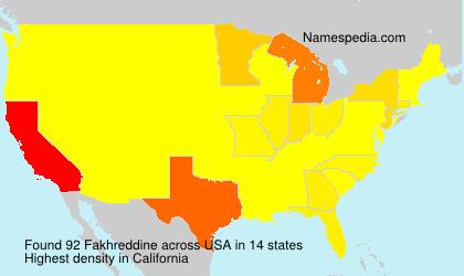Surname Fakhreddine in USA