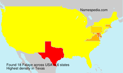 Surname Falaye in USA
