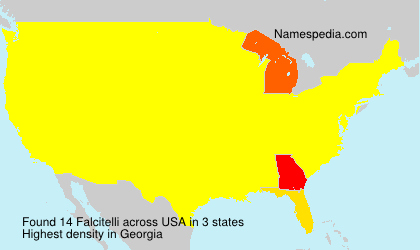 Surname Falcitelli in USA