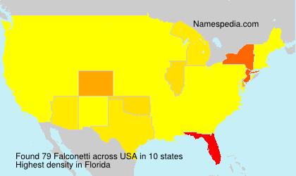 Familiennamen Falconetti - USA