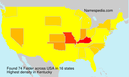 Familiennamen Falder - USA