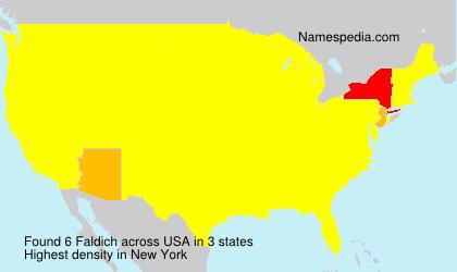 Familiennamen Faldich - USA