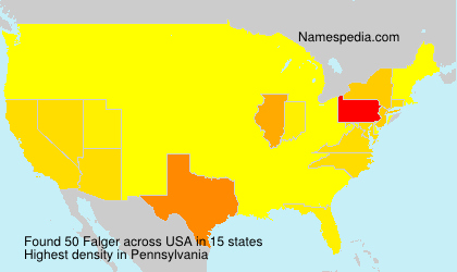 Surname Falger in USA