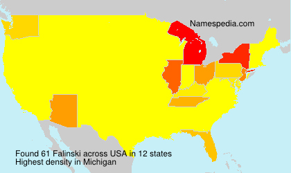 Surname Falinski in USA