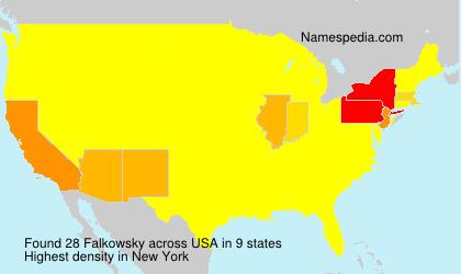 Familiennamen Falkowsky - USA
