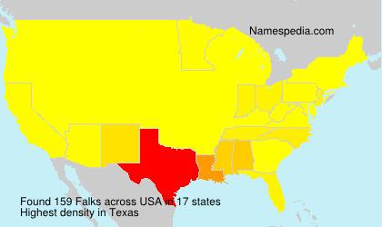 Surname Falks in USA