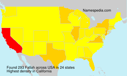 Surname Fallah in USA