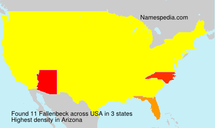 Surname Fallenbeck in USA