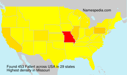 Surname Fallert in USA