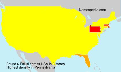 Surname Fallisi in USA