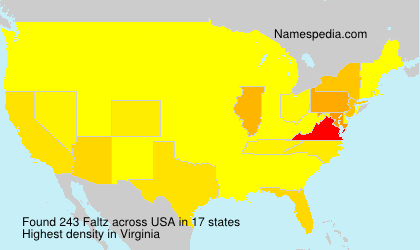 Surname Faltz in USA