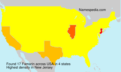 Surname Famarin in USA
