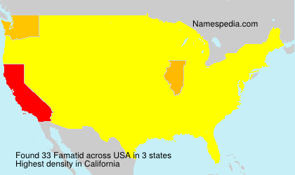 Surname Famatid in USA
