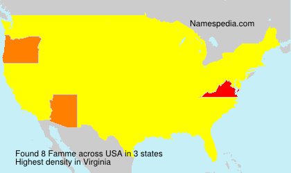 Surname Famme in USA