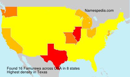 Surname Famurewa in USA