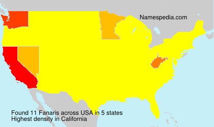 Surname Fanaris in USA