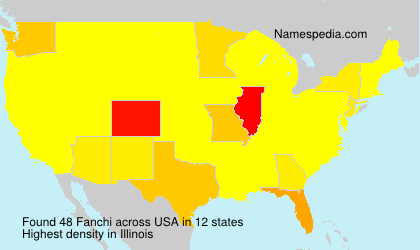 Surname Fanchi in USA