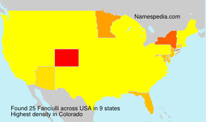 Surname Fanciulli in USA