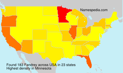 Surname Fandrey in USA