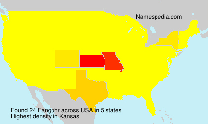 Surname Fangohr in USA