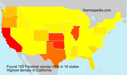 Surname Fanshier in USA