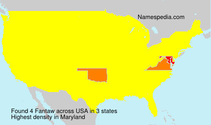 Surname Fantaw in USA