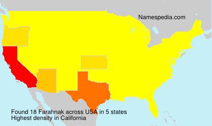 Familiennamen Farahnak - USA