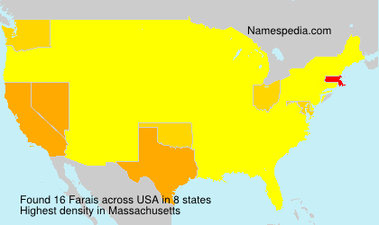Surname Farais in USA