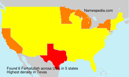 Surname Farhatullah in USA