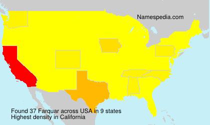 Familiennamen Farquar - USA