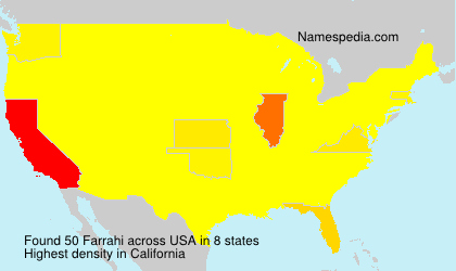 Surname Farrahi in USA