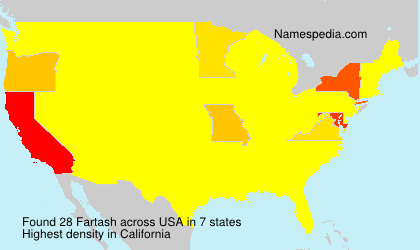 Surname Fartash in USA