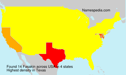 Familiennamen Fasakin - USA