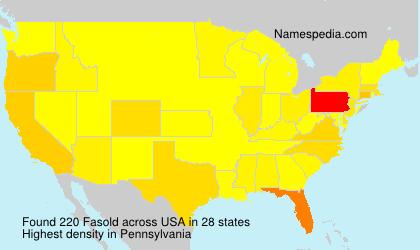 Familiennamen Fasold - USA
