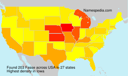 Surname Fasse in USA