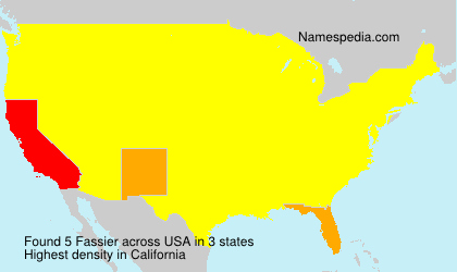 Surname Fassier in USA