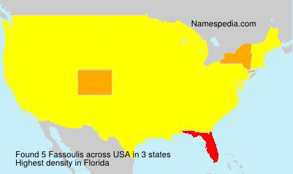 Familiennamen Fassoulis - USA