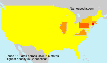 Surname Fatek in USA