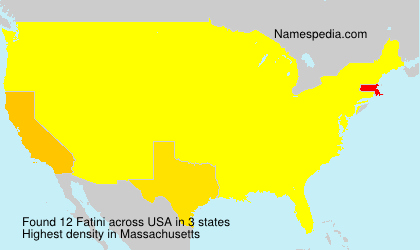 Surname Fatini in USA