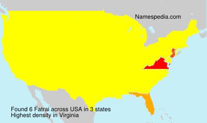 Surname Fatrai in USA