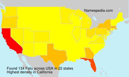 Surname Fatu in USA