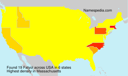 Surname Fatyol in USA