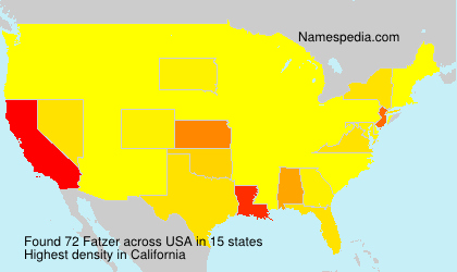 Surname Fatzer in USA