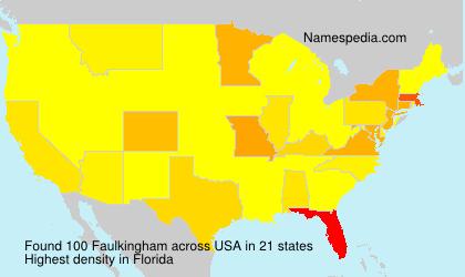 Surname Faulkingham in USA