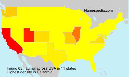 Surname Faumui in USA