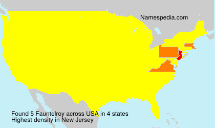 Surname Fauntelroy in USA
