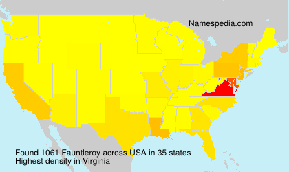 Surname Fauntleroy in USA