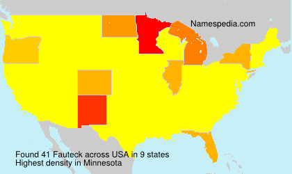 Surname Fauteck in USA