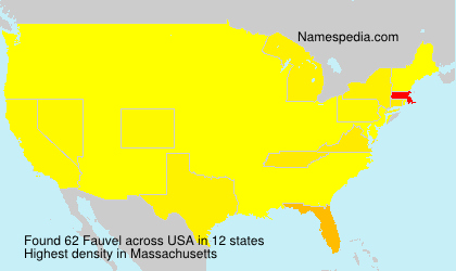 Surname Fauvel in USA