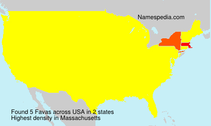 Surname Favas in USA